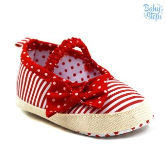 BABY STEPS Stipy Dots Baby Girl Shoes (Red)