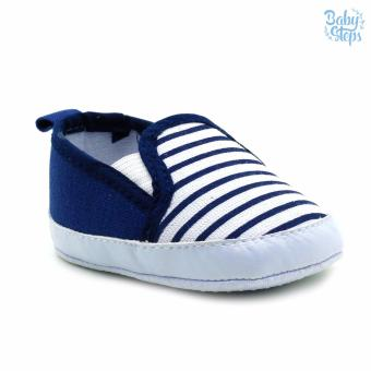 Baby Steps Stripes Baby Boy Shoes (Navy)