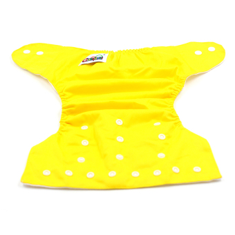 BABY STEPS Tricolor Orange-Yellow-Blue Cloth Baby Diapers - 4
