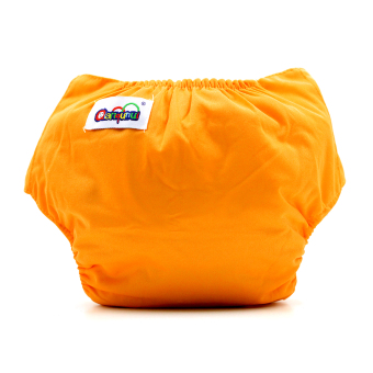 BABY STEPS Tricolor Orange-Yellow-Blue Cloth Baby Diapers - 3