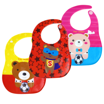 BABY STEPSBaby Feeding Washable Bib Set of 3