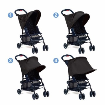 Baby Stroller Shade Blocks UVA UVB Sun Rays Cover Awning Rain Protection - intl Price Philippines