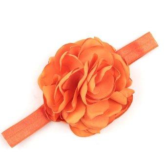 Baby Toddler Infant Flower Shape Headbands Hair Band Soft Fabric Headwear Simple Accessories Orange - Intl