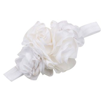 Baby Toddler Infant Simple Flower Hair Band Headbands Headwear Fabric Lovely Decor Soft White - Intl