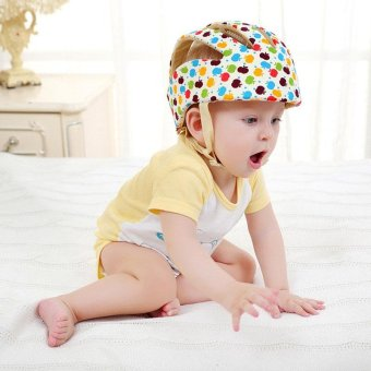 Baby Toddler Walking Protective Hat Fashion Kids Learning Walkers Adjustable Safety Head Helmet- F (apple) - intl