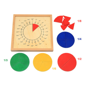 Baby Toys Circular Mathematics Fraction Division Teaching AidsMontessori Board Wooden Toys Child Educational Gift Math Toy - intl Price Philippines
