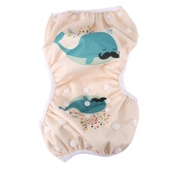 Baby Unisex Reusable Breathable Swim Diapers Summer Pool Pant withSnaps Training Pants #2 - intl - 4