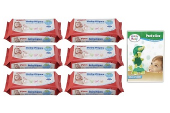 Baby Wipes Water Base Refill 82's Pack of 6 w/ Free 1 Brainy Baby DVD (Peek A Boo) Price Philippines