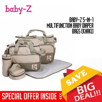 Baby-Z 5-in-1 Multifunction Baby Diaper Bags (Khaki)