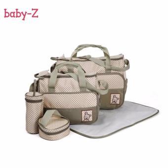 Baby-Z 5-in-1 Multifunction Baby Diaper Bags (Khaki) - 2