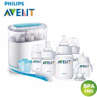 Baby-Z Philips Avent Classic NewBorn / Infant Starter Gift Set BPA-Free (Clear/White) + Baby-Z Philips Avent 3-in-1 Electric Steam Sterilizer Price Philippines