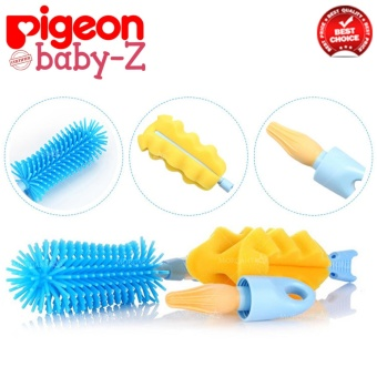 Baby-Z Pigeon Bottle and Nipple 3-in-1 Brush Set