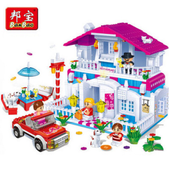 BanBao restaurant puzzle assembled building blocks