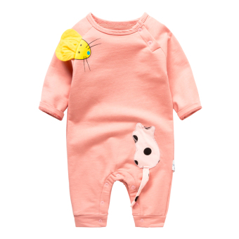 Baobao casual autumn long-sleeved newborns thin romper baby coveralls