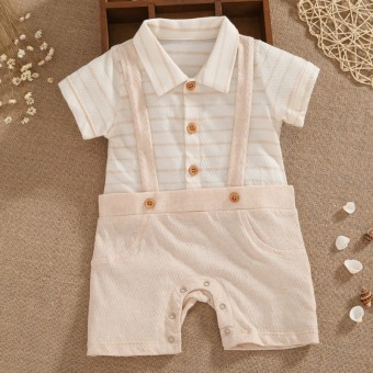 Baobao cotton thin newborns summer baby coveralls