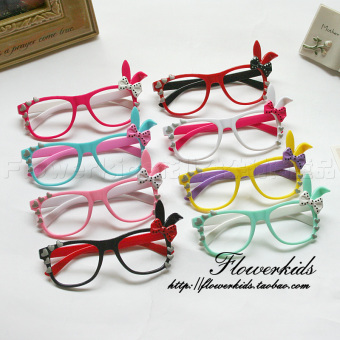 Baobao Korean-style ear candy color frame glasses children's glasses