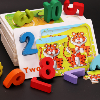 Baobao with numbers building blocks lettered puzzle