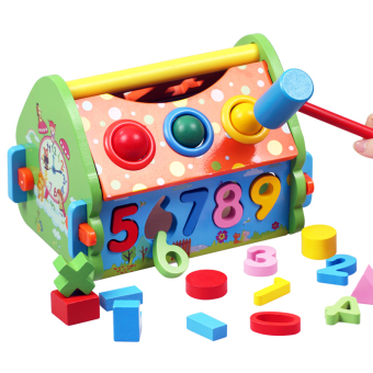 Baobao with numbers dimensional wooden in infants and young children toys
