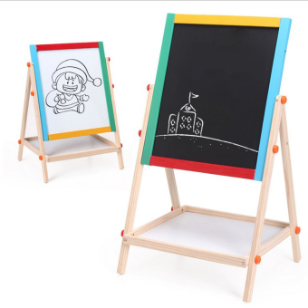 Baobao wood double-sided magnetic children's Sketchpad easel