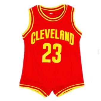 Basketball Romper Cleveland (Red) For Baby 12 to 18 Months Old