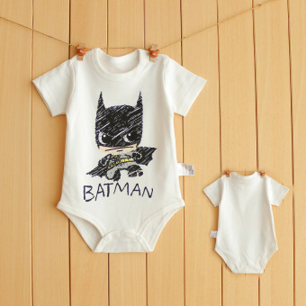Batman newborns one-piece summer baby onesie crawling clothes