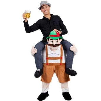 Bavarian Beer Guy Ride On Mascot Oktoberfest Piggy Back Carry MeKhaki - intl Price Philippines