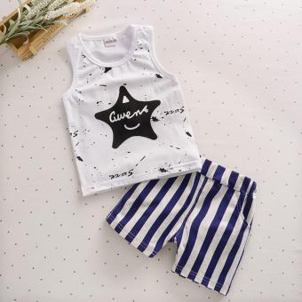 Bear Fashion Baby Boys Clothing Kids Summer Star Clothes 2pcs Set Suit - intl
