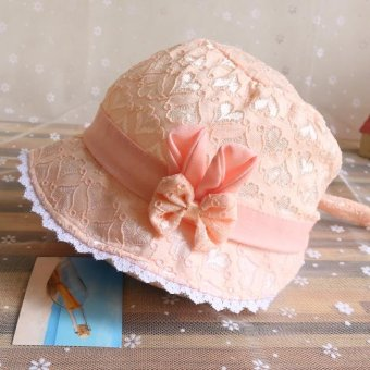 Bear Fashion Baby Lovely Lace Flower Infant Newborn Girls Boys Hats Caps - intl
