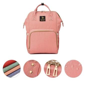 Beau Large Capacity Backpack Mummy Bag Baby Water Feeding Bottle Diaper Bag Orange-pink - intl - 2