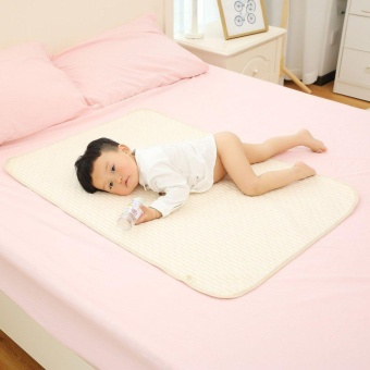Beau Stripe Organic Cotton Waterproof Layer Baby Changing Urine Pad Bed Sheets multi-color S - intl