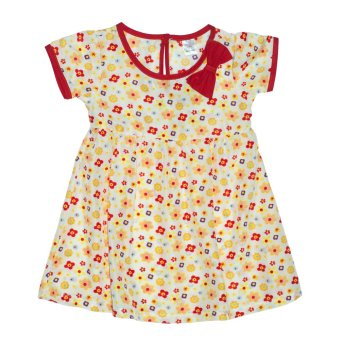 Bebe by SO-EN Infant's Dress with Sleeves and Ribbon (Yellow)