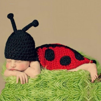 Beetle Newborn Baby Girls Boys Knit Costume Photo Photography PropToy - intl