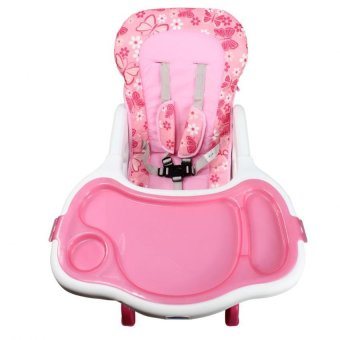 Bestbaby 3 in 1 Adjustable Multi-function Baby Feeding TrayHighchair Rocking Chair(Pink) - 5