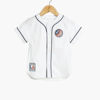BGS Baby Boys Baseball Shirt (White)