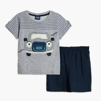 BGS Baby Boys Beep Beep Tee and Shorts Set (Gray) Price Philippines
