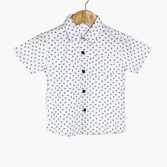 BGS Boys Fishes Casual Shirt (White)