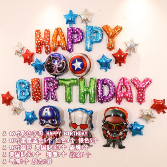 Birthday party anniversery decorative balloon aluminum balloon
