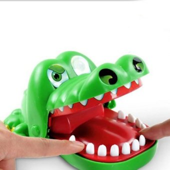 Bite toy shark tooth extraction game crocodile toy bite fingerlarge parent-child game children tumbling toys Family Game For KidsXmas Gift - intl - 2