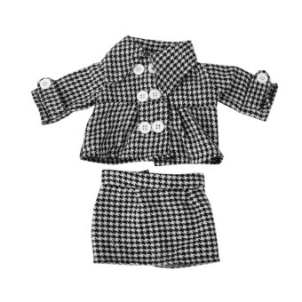 Black and White Checked Coat with Skirt For American Doll 18 Inch