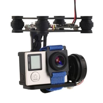 Black FPV 2 Axle Brushless Gimbal With Controller For DJI PhantomGoPro 3 4 Black - intl Price Philippines