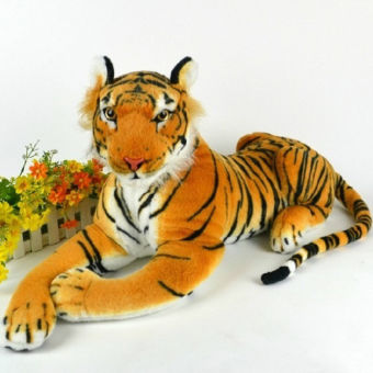 Black Horse Lifelike Tiger Plush Animal Doll Children KidsSimulation Stuffed Toy Doll New