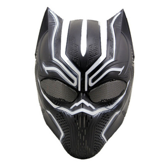 Black Panther Masks Cosplay Men's Latex Party Mask for Halloween -intl