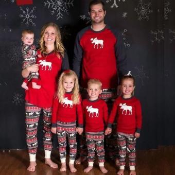 Blackhorse Family Christmas Pajamas Set Baby Kids Sleepwear (4T) -intl
