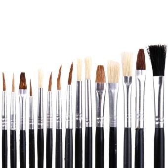 BolehDeals 15 PCS Artist Painting Brushes Palette Set for Acrylic Oil Painting - 3