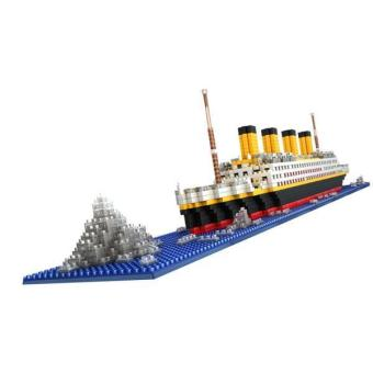 BolehDeals 1860pcs Grand Titanic Building Blocks Kit Ship Model Assembly Block Kids Toy - intl
