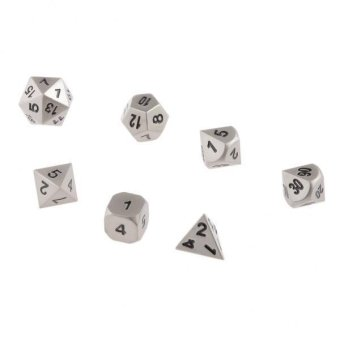 BolehDeals 7pcs/Set TRPG Games Dungeons & Dragons D4-D20 Multi-sided Dices Color #11 - intl