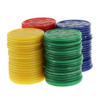 BolehDeals 80 Plastic Poker Chips - Red Green Blue Yellow - intl Price Philippines