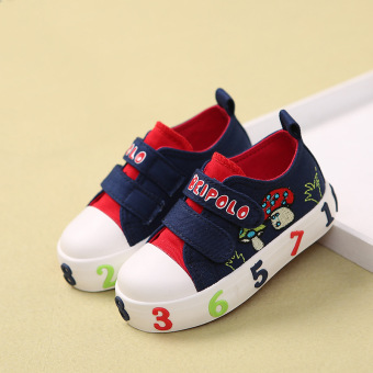 Boy's Spring and Autumn shoes small children's canvas shoes