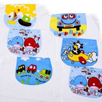 Boys Absorbent Back Towel/Washcloth Pack of 6