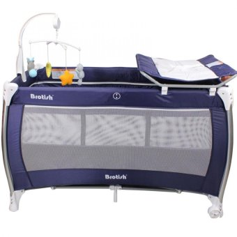 Brotish Baby Play Yard Nursery Center Playpen and Crib (Navy Blue) Price Philippines